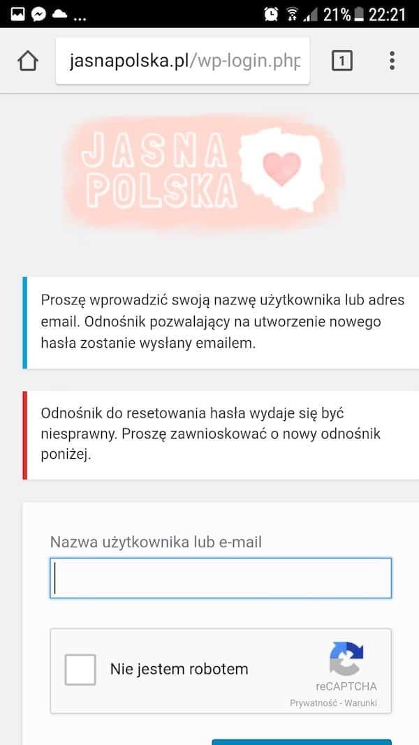 Jasna Polska często zadawane pytania, rejestracja i logowanie do Jasnej Polski
