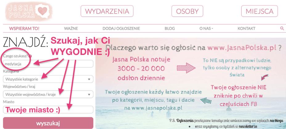 Jasna Polska to ośrodki i centra rozwoju osobistego, gabinet masażu, studio jogi, sklep online ze zdrową żywnością, bio warzywniak, wydawnictwo, gród Słowian, szkoła demokratyczna, leśne przedszkole, media alternatywne, rękodzieło, pracownia artystyczna