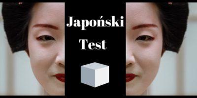 Japoński test sześcianu z efektem wow - kokologia