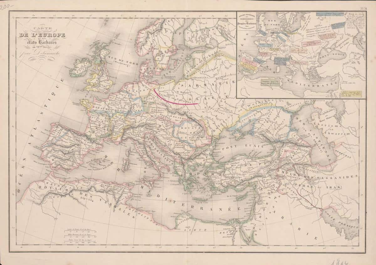 Francuska Mapa Europy VI w n.e., Lechia, Lechy inaczej Polanie