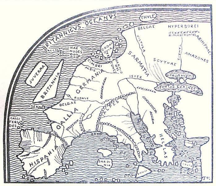 Mapa Sarmacja Europa Pompniusz Mela 1 w n.e. wiki